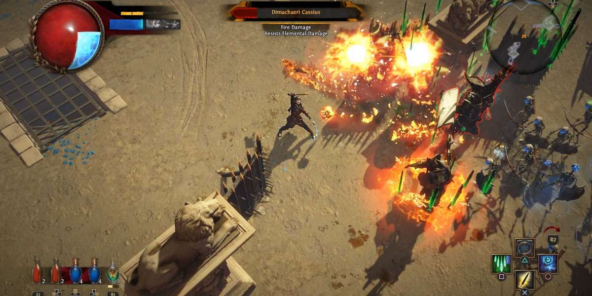 Path of Exile is a role-gambling ambitious with acme look