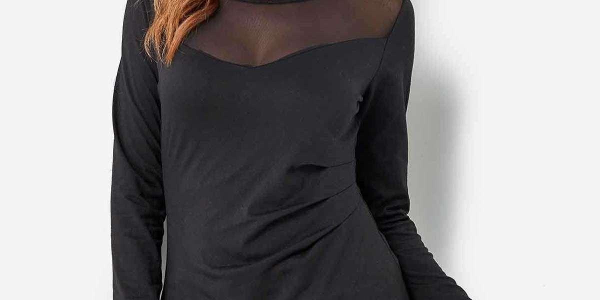 Plain Lace See Through Black Oversized Intimates