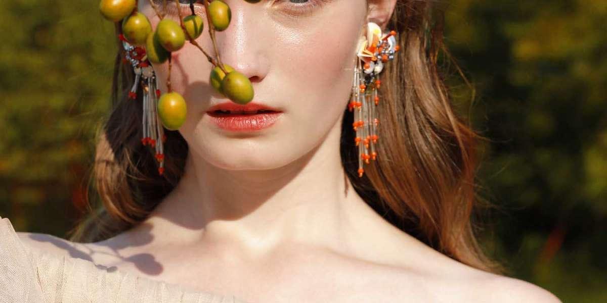 Pearl Bridal Earrings Hand Weaved